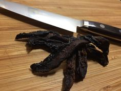 Spicy soy mushroom jerky. Do you love jerky but need another food group to add to your repertoire? Made with oyster and portabella mushrooms, this jerky is loved by vegetarians and carnivores alike…