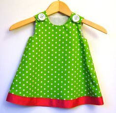 Green Polka Dots Baby Toddler Dress Toddler by KKchildrendesigns Sewing Kids Clothes, Children Clothes, Sewing For Kids, Toddler Dress, Baby Dress, Kids Outfits, Cute Outfits, Love Sewing, Grandchildren