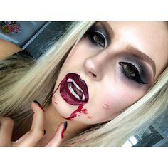 shaaanxo's photo on Instagram Vampire makeup for halloween                                                                                                                                                                                 More