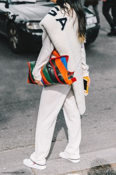 Love this rainbow striped bag