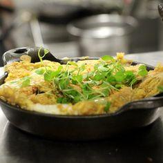Spanish Omelette with chorizo, garlic, espelette, manchego, & crispy potatoes. Terrazza Lounge at Hotel Casa del Mar - Santa Monica, California.