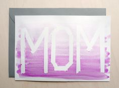 Lovely Pieces: DIY Ombre Mother's Day card