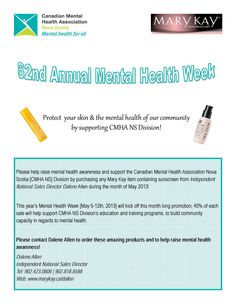 This year's Mental Health Week [May will kick off this month long promotion; of each sale will help support CMHA NS Division's education and training programs, to build community capacity in regards to mental health. Mental Health Association, Mental Health Week, Mental Health Awareness, Community Building, Education And Training, Fundraising Events, Training Programs, Division, Your Skin