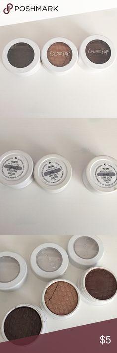 ColourPop Eyeshadow Bundle Gently used. Price firm Colourpop Makeup Eyeshadow