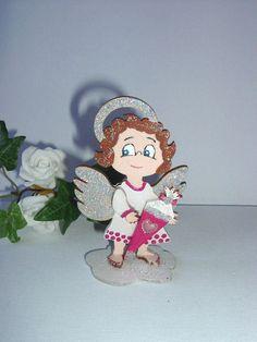 Eine hübsches Engelchen als Geldgeschenkhalter für die Einschulung.
