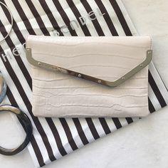 Selling this Pale taupe/cream Henri Bendel wristlet in my Poshmark closet! My username is: reneedavis. #shopmycloset #poshmark #fashion #shopping #style #forsale #henri bendel #Handbags