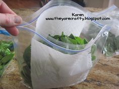 Preserving spinach...need to try this since my spinach always seem to go bad before I get it all eaten