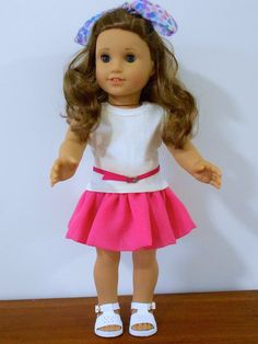 Free doll clothes skirt pattern for American Girl Doll