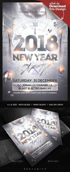 This poster is suitable for new year eve event. Flyer FeaturesFlyer ...