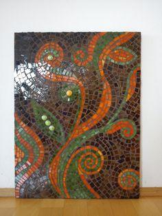 Mosaic  Panel Dancing in the Sun. $170.00, via Etsy.