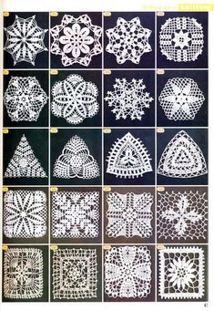 "Photo from album ""Узоры крючком"" on Yandex. Crochet Placemat Patterns, Crochet Snowflake Pattern, Crochet Dishcloths, Crochet Squares, Crochet Shell Stitch, Crochet Motif, Crochet Doilies, Crochet Stitches, Russian Crochet"