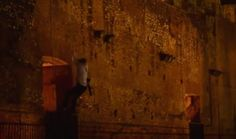 German tourists up the wall at Colosseum