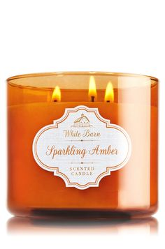 Sparkling Amber 3-Wick Candle - Home Fragrance 1037181 - Bath & Body Works