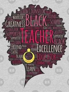 'African American Teacher Artistic Afro' T-shirt by blackartmatters - - . 'African American Teacher Artistic Afro' T-shirt by blackartmatters – – African American Artwork, African American History, African Art, African American Quotes, American Women, Black Love Art, Black Girl Art, Black Girl Quotes, Natural Hair Art