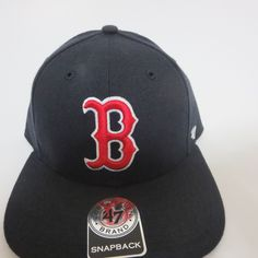 89efb04acdb Boston Red Sox Major League Baseball Sure Shot 47 Brand Snapback Hat Blue  NEW  47BrandFortySevenBrand  BaseballCap
