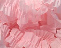 Baby Pink and Baby Pink Ruffled Streamers, 36 ft.