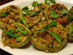 Recipes from 4EveryKitchen: Sicilian Stuffed Artichoke Bottoms