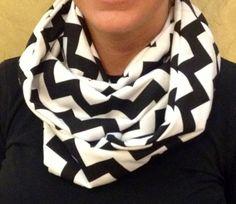 Handmade chevron infinity scarf by Cherrieontop on Etsy, $12.00