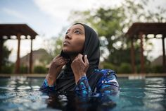 When Swimming As a Muslim Woman Becomes A Political Act. Muslim women have been intimidated, harassed and kicked out for wearing modest bathing suits across America, UNTIL NOW. Photo by Kholood Eid By Rowaida Abdelaziz. Pool Rules, Visit Egypt, Lifeguard, Muslim Women, Muslim Fashion, Clothing Company, Bathing Suits, How To Become, Swimming