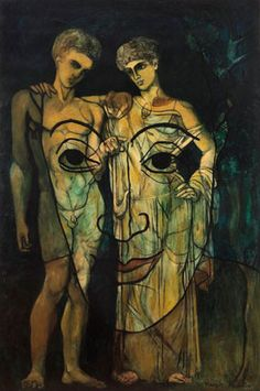 Francis Picabia, French, 1879-1953, Adam and Eve, 1931, Oil on canvas, 194 x 130 cm, Private Collection, © 2011 Artists Rights Society (ARS), New York / ADAGP, Paris, VEX.2011.2.51