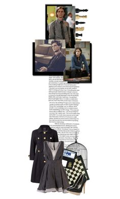 """11/50- ""You're just saying that to convince me I don't need to carry a gun."""" by dreaveronica ❤ liked on Polyvore featuring Orla Kiely, Dorothy Perkins, matthew gray gubler, tristan & trista spencer reid, chess and criminal minds"
