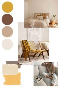 Room Color Schemes, Room Colors, Beige Color Palette, Tan Walls, Warm Bedroom, Bedroom Vintage, Bedroom Styles, House Rooms, Decoration