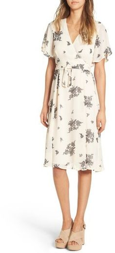 June & Hudson Floral Print Wrap Dress