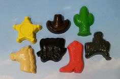 Western Themed Buckaroo crayons by KrazyKoolKrayons on Etsy