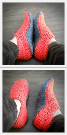 """""""Options"""" Slipper Pattern: A pattern where you make the choices! Knit the top part of the slipper, choose the type of sole you want: Knit, Crochet, or cut out of a pre-felted sweater. Select the method that you want to join the top and sole too! Very clear instructions as well as photos are provided for all choices. You will even see my top-secret tip (shhhh!) on making your slipper non-skid. This pattern is very, very easy but will make your friends and family ooh & aah when they recieve…"""