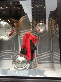 Dior Window Saks Fifth Ave NYC.  Love that Red!!