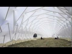 Architectural students at the Tokyo University of Science developed an experimental, extremely lightweight, load-bearing structure for a temporary pavilion. The 26-metre-long, up to 7,5-metre-wide ...