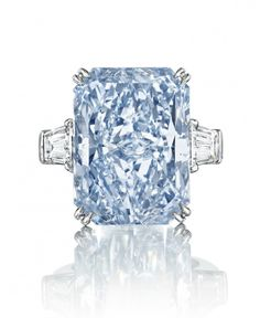 The Oppenheimer Blue Diamond Sells for a Record .5 Million | Discover more about Christie's Auction: http://designlimitededition.com