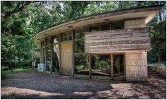 The Spring House/ Clifton & George Lewis II House. Tallahassee, Florida. 1954. Usonian Style. Frank Lloyd Wright.