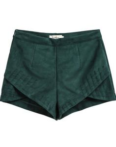affordable fashion - Green Overlay Shorts, $22; at She Inside