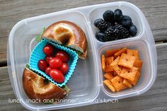"""Lunch, Snack and """"Sninner"""": easy lunchbox"""