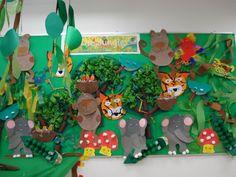 "My Pre-K ""Walking through the Jungle"" display wall."