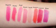 Clinique Long Last Soft Matte Lipstick Swatches