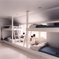 Awesome built-in bunkbeds