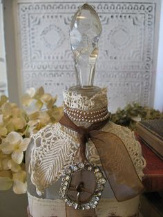 Altered Art Vintage Bottle by littlethings1, via Flickr