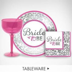 Set Up For A Fun Night Of Drinks Snacks With Bride To Be Tableware And