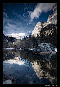 Mirror Lake. One day I will take a picture like this.