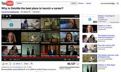 Deloitte advertising on YouTube to attract potential employees. #RunwayDigital #SocialMedia