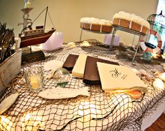 Nautical grooms table