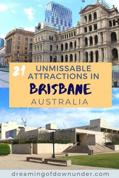 Discover the top attractions in Brisbane Australia, including free things to do in Brisbane, things to do with kids and Brisbane city attractions such as South Bank beach, nightlife and art galleries. #australia #brisbane #queensland #travel Brisbane River, Brisbane Queensland, Brisbane City, Coast Australia, Queensland Australia, Moving To Australia, Australia Travel, Things To Do In Brisbane