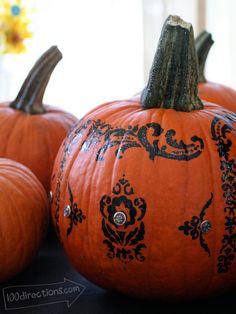 Stenciled Halloween pumpkin