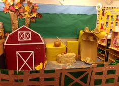 Dramatic Play Farm Dramatic Play Themes, Dramatic Play Area, Dramatic Play Centers, Classroom Art Projects, Farm Projects, Classroom Decor, Farm Animals Preschool, Fall Preschool, Preschool Plans