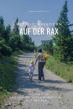 Die #Rax in den Wiener Alpen in #Niederösterreich eignet sich nicht nur für ausgedehnte #Wanderungen, sondern auch ideal für kurze Touren mit #Kind bzw. #Familienwanderungen. In nur wenigen Minuten bringt dich die Raxseilbahn auf über 1500 Meter Seehöhe, mitten in eine alpine Pflanzenwelt zu herrlichen #Aussichten. Wir haben eine #kinderfreundliche Wanderung für #Familien ausprobiert und waren begeistert. Movie Posters, Movies, Hiking With Kids, Families, Tours, Alps, Film Poster, Films, Movie