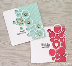 Bubble Birthday cards / Daily inspiration from our bloggers