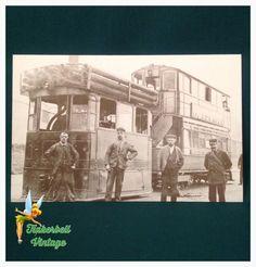 Vintage Bradford Tramways Postcard. Vintage Postcard. Collectors. Postcard. Collectible Postcard. Bradford. by TinkerbellVintage on Etsy