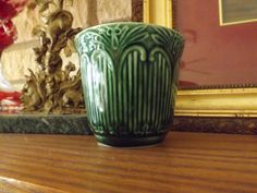 Vintage Green McCoy Pottery Cup_Green by GoldenBeeAntiques on Etsy